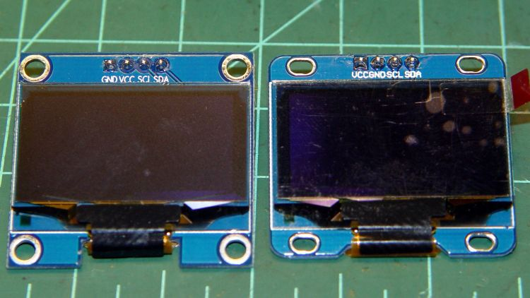 OLED Modules - pinout difference