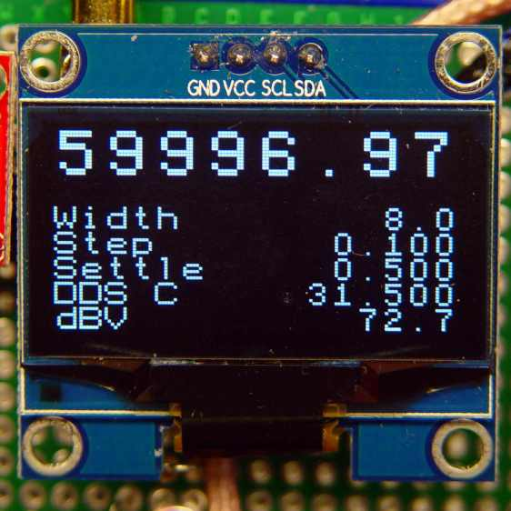 DDS OLED with LM75 temperature