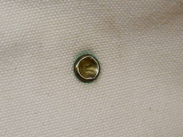 Handbag - intact rivet - inside