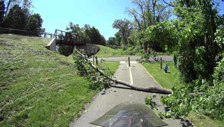 Wappinger Tornado - Maloney Rd Rail Trail ramp - 2017-06-01