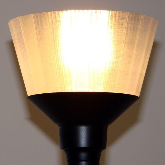 Torchiere Lamp Shade - no epoxy - lit