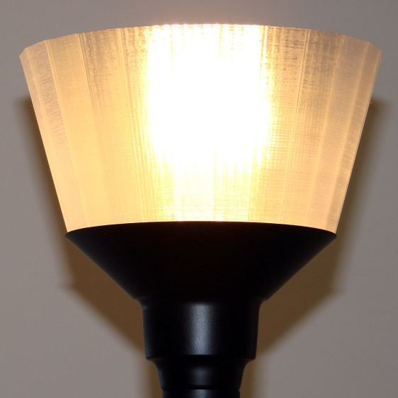 Torchiere Lamp Shade - no epoxy - lit