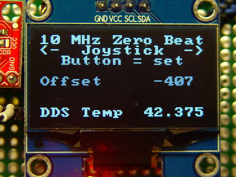 LF Crystal Tester: Joystick for Oscillator Offset Adjustment | The