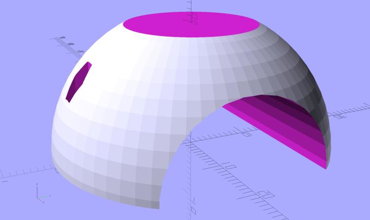 Fairing Flashlight Mount - Ball - solid model