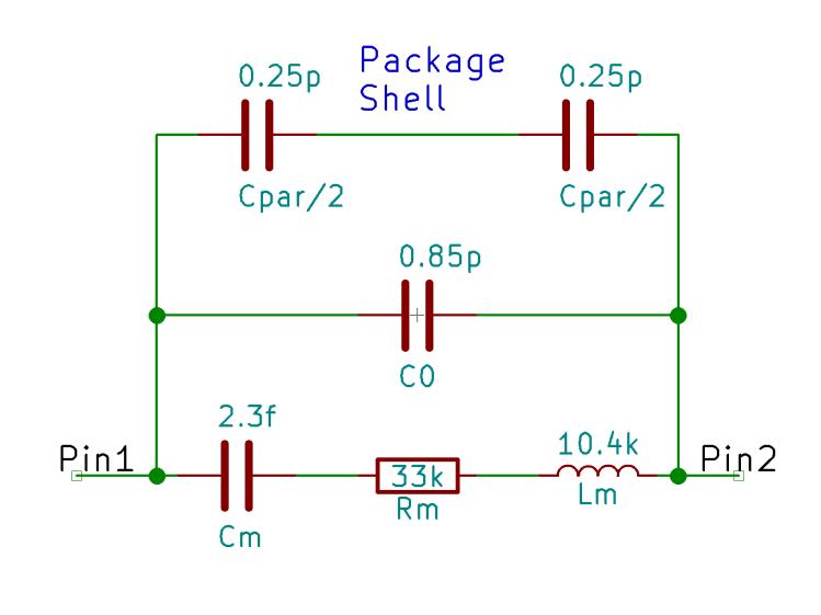 Quartz resonator circuit model