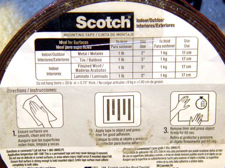 Scotch Extreme Mounting Tape - label