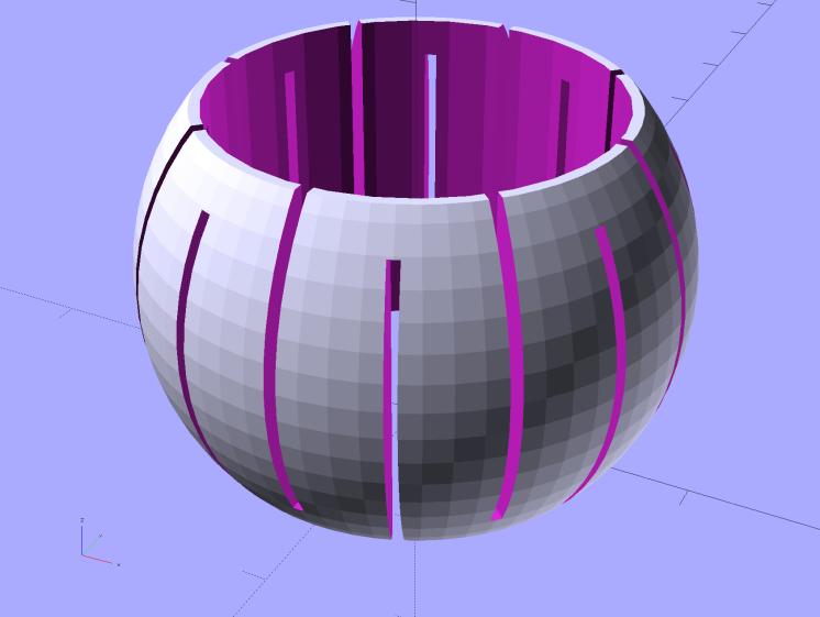 Fairing Flashlight Mount - Finger Ball - solid model