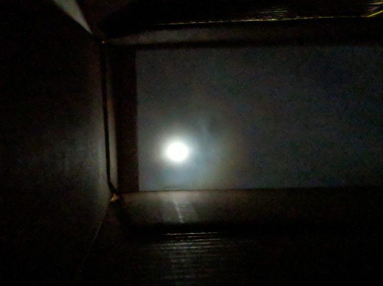 Eclipse 2017-08-21 - pinhole projector - interior