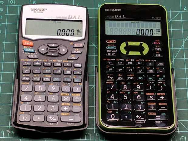 Sharp EL-531W EL-531X calculators