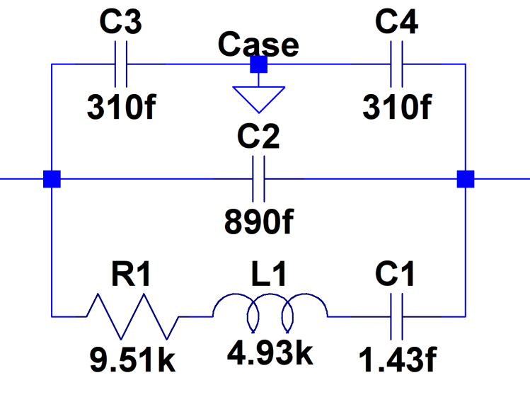 60 kHz Quartz Resonator - model