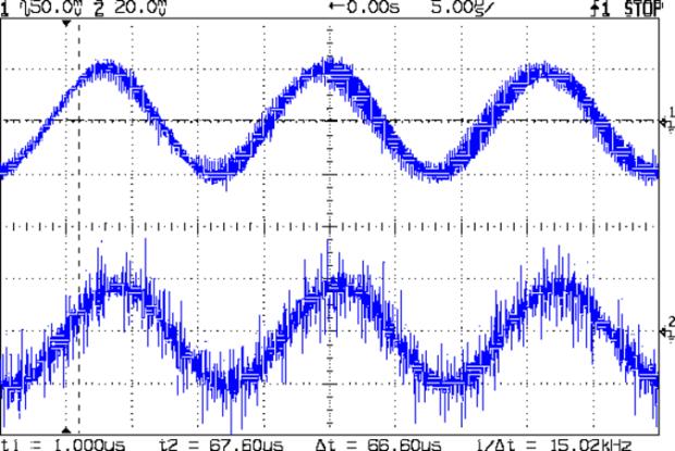 BP and Xtal filter out - 1.1 v sine 10 Meg xfmr