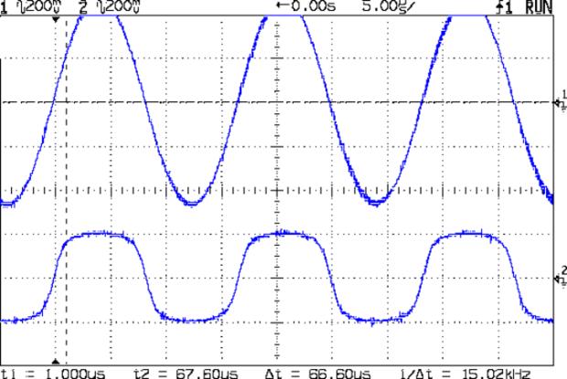 BP and Xtal filter out - 10.0 v sine 10 Meg xfmr