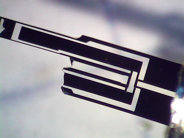Broken 60 kHz Tuning Fork Resonator - detail