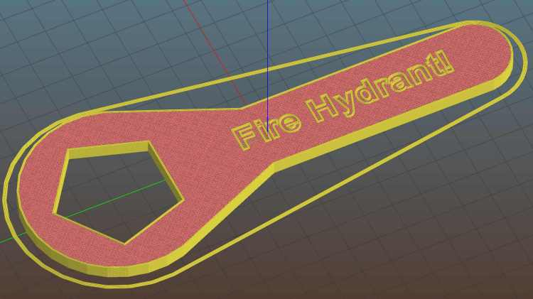 Hydrant Wrench - Slic3r preview
