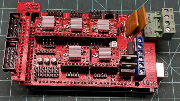 RAMPS shield - stepper heatsinks