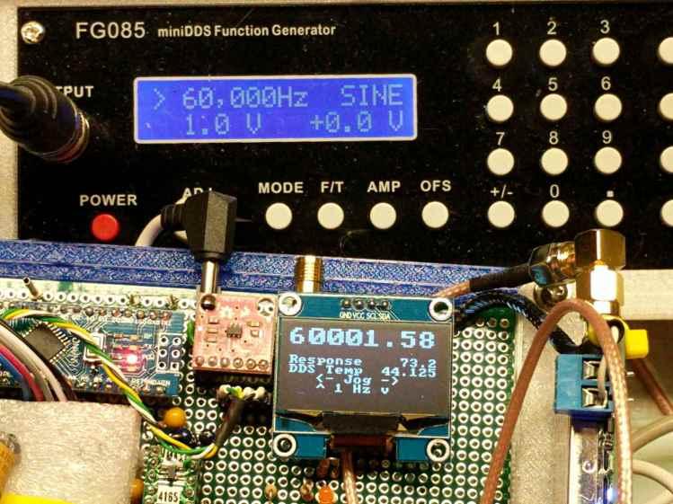 FG085 vs AD9850 DDS frequencies