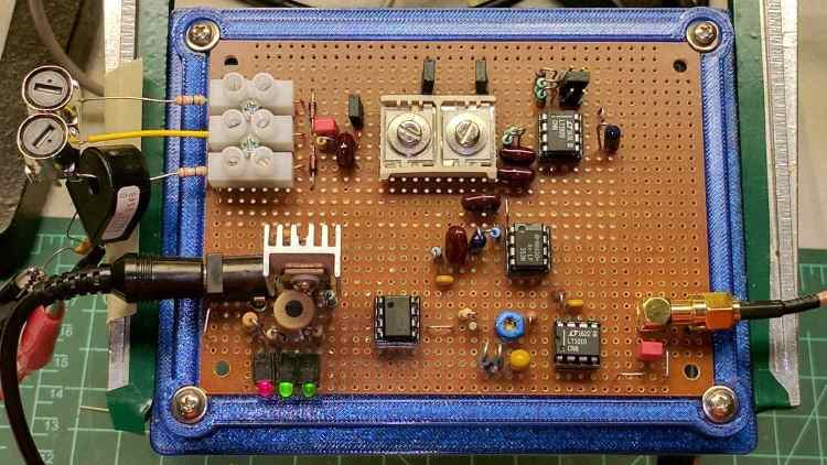 60 kHz Preamp - protected resonator filter - overview