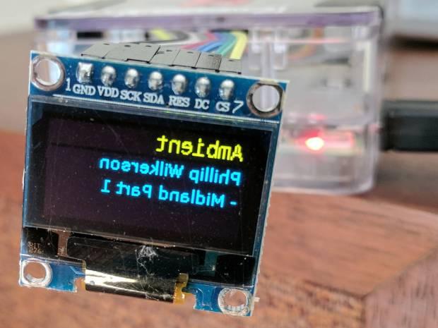 Mirror-image OLED display