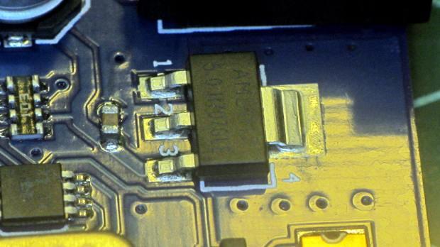 RAMPS Mega - regulator - thermal vias