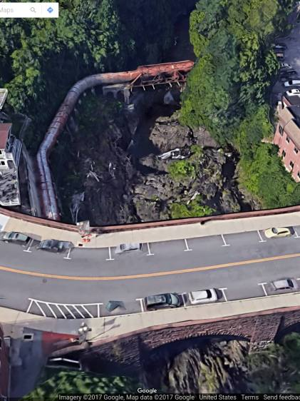 Wappingers Falls Bridge - Google 3D Overhead - 2017-09-22