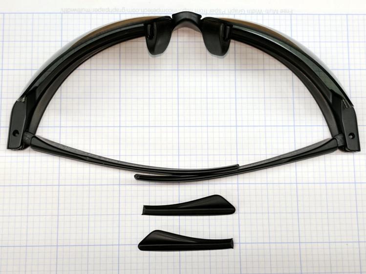 Sunglass earpiece trim
