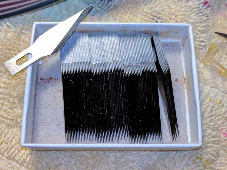 Matte black blade edges