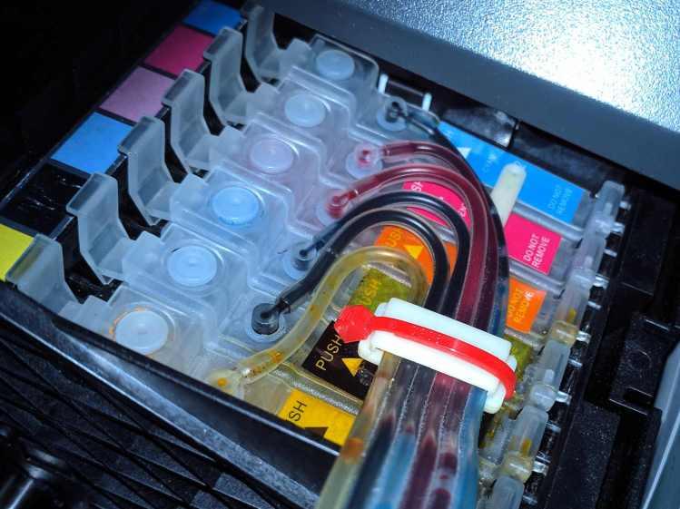 Epson R38 - CISS tubes