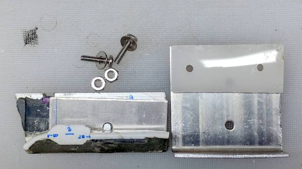 Refrigerator shelf slide - bracket parts