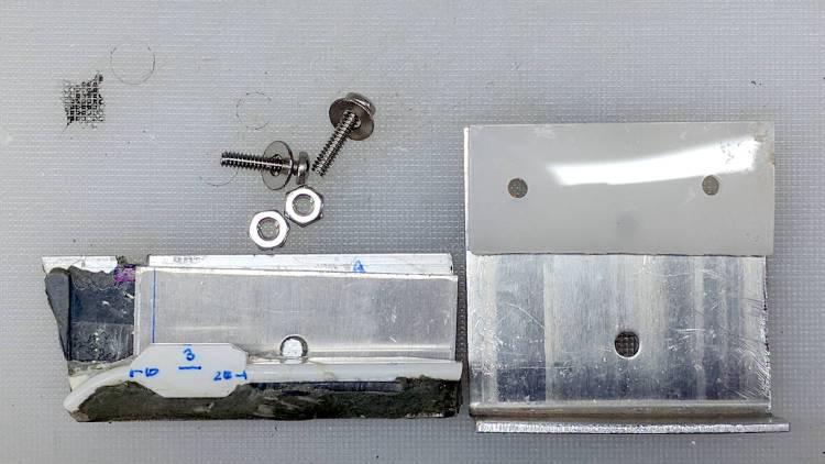 Refrigerator shelf slide - bracket parts