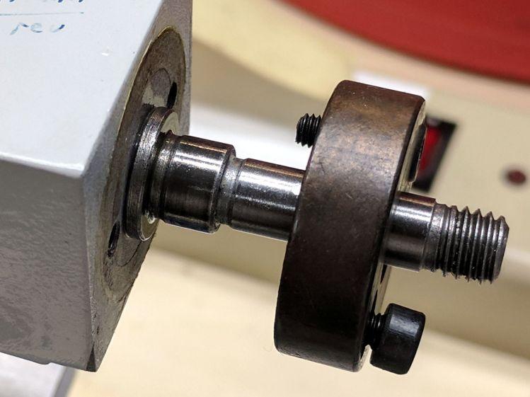 Tailstock ram screw thrust bearing