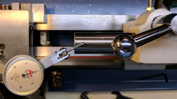 Tailstock - vertical angle measurement