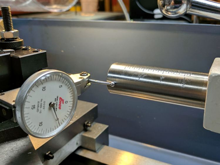 Tailstock - vertical angle measurement - 1