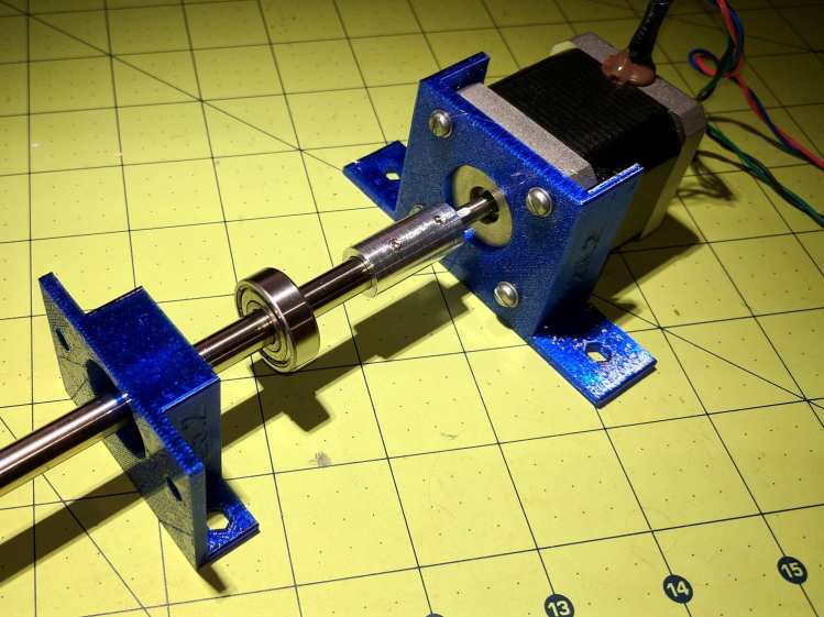 NEMA17 motor and bearing mounts