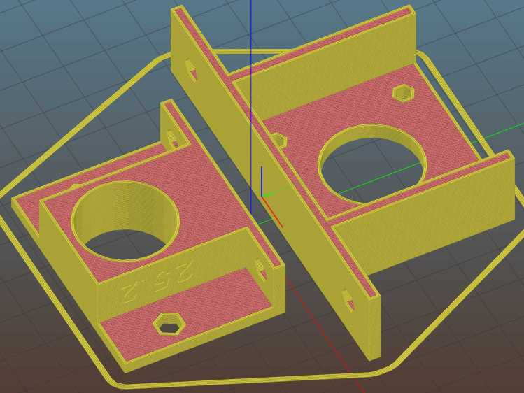 NEMA17 and Bearing Mounts - Slic3r preview