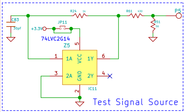Ham-It-Up Test Signal source - schematic