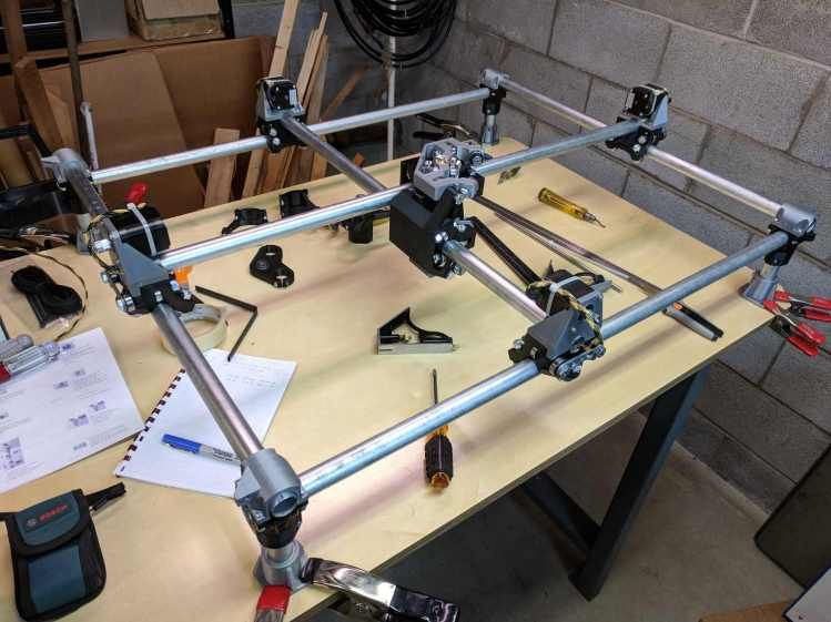Mostly Printed CNC - construction overview