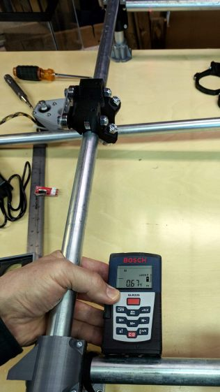 MPCNC - Laser rail measurement