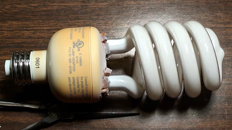 Another Hot-Failed CFL Bulb