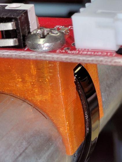 X min endstop - recessed strap