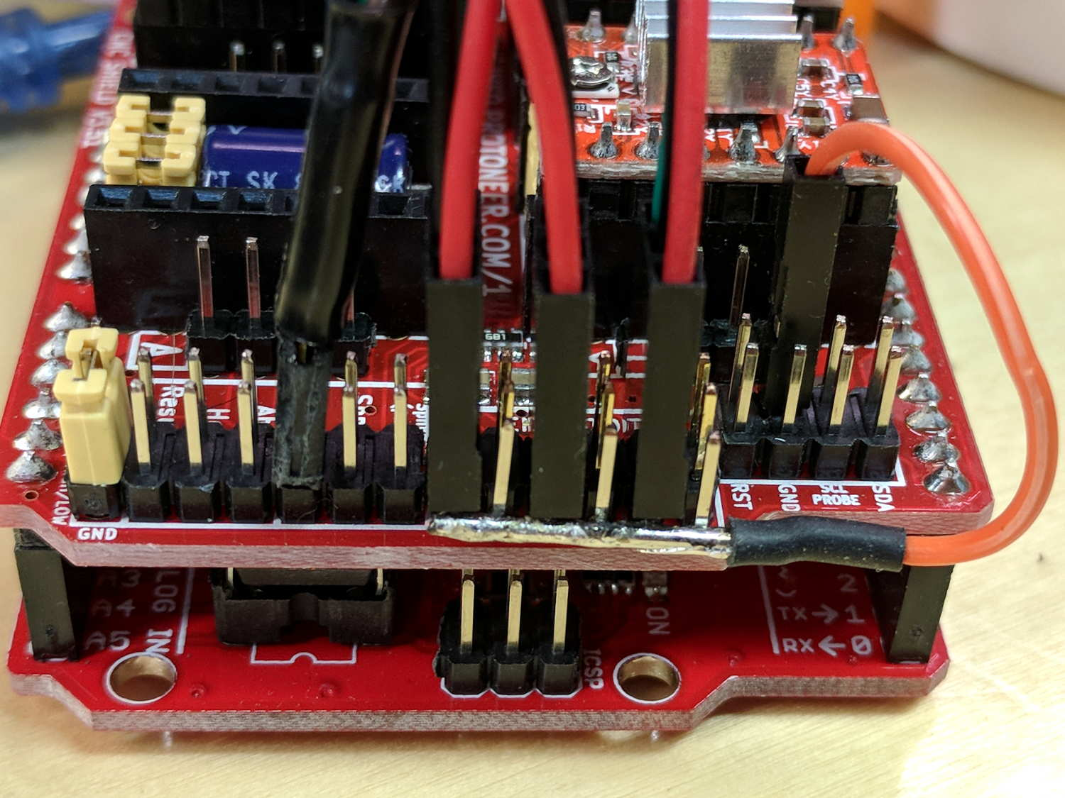 Makerbot-style Endstop Power Adapter for Protoneer Arduino CNC