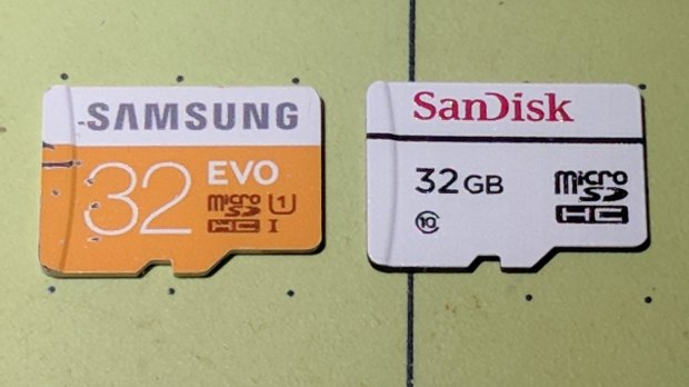 MicroSD 32 GB - Samsung EVO and SanDisk High Endurance