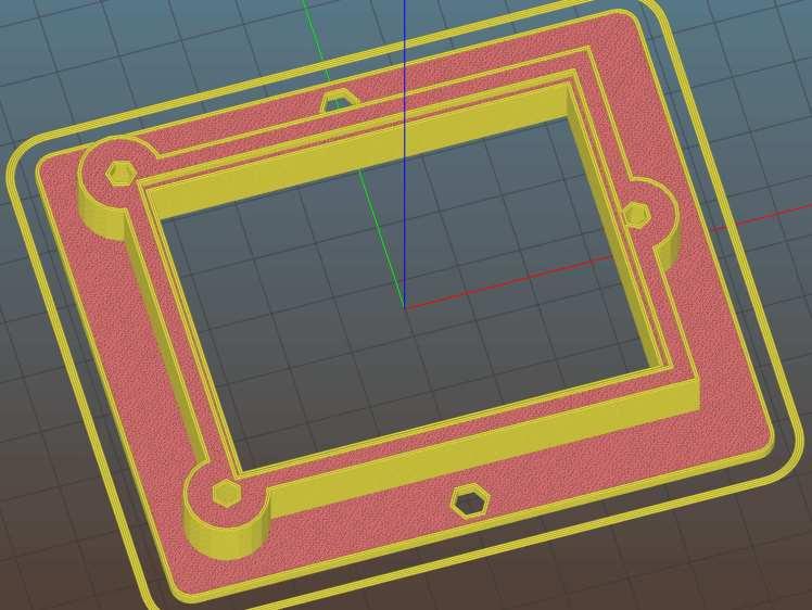 Proto Board Holder ArdUno - Slic3r preview