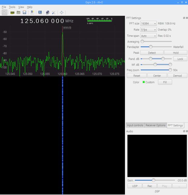 WWVB - xtal filter - waterfall 5 fps RBW 109.9 Hz Res 0.02 s - gqrx window - 20171116_103542