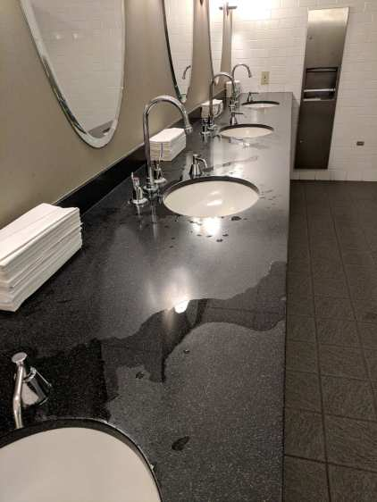 Fancy washroom counter