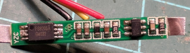 Fly6 - Battery Protection PCB - components