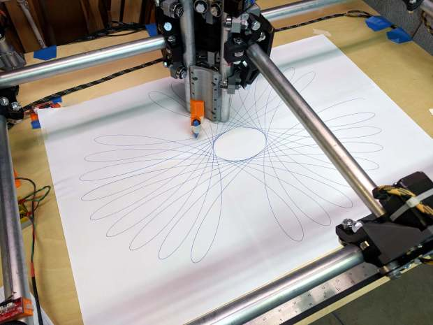 MPCNC - Full-platform Spirograph - first pass
