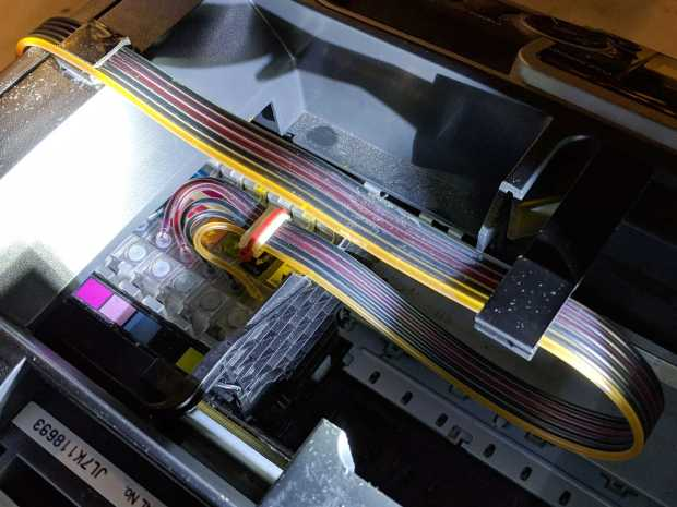 Epson R380 - straight CISS tube route