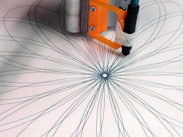 Spirograph - liquid ink pen - detail