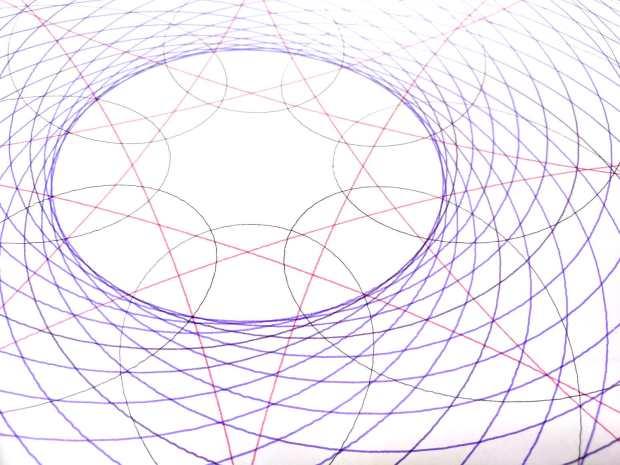 Spirograph pattern - central details