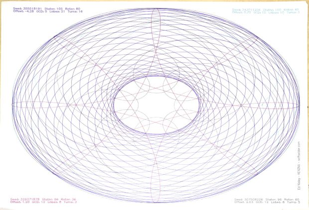 Spirograph pattern - overview